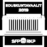 SFP:s eduskuntavaalit-logo i vitt